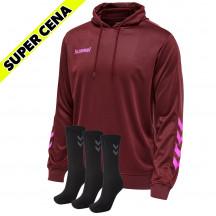 PAKET - pulover s kapuco hmlPROMO POLY + 3x nogavice BASIC
