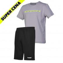 PAKET - otroša kratka majica hmlBASTE + otroške bermuda hlače GO COTTON