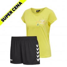 PAKET - ženska majica hmlSPRING + kratke hlače CORE POLY
