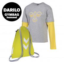 PAKET - otroška majica z dolgimi rokavi hmlHEBRONY + nahrbtnik GYM BAG GRATIS