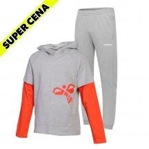 PAKET - otroški hoodie hmlMARSTON + otroške hlače GO COTTON KIDS