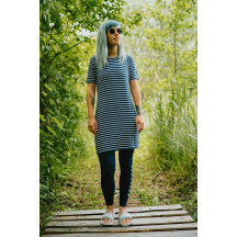 ženska obleka s kratkimi rokavi HMLTENNO DRESS
