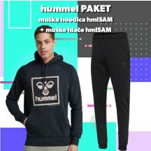 PAKET - moški hoodie hmlSAM + hlače hmlSAM