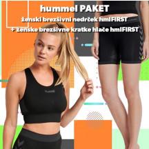 PAKET - brezšivni nedrček hmlFIRST + brezšivne kratke hlače hmlFIRST