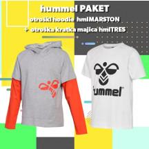 PAKET - otroški hoodie hmlMARSTON + kratka majica hmlTRES