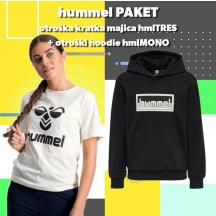 PAKET - otroški hoodie hmlMONO + kratka majica hmlTRES