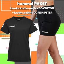 PAKET - ženska majica GO COTTON + kratke pajkice CORE HIPSTER