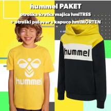 PAKET - otroški kratka majica hmlTRES + otroški hoodie hmlMORTEN