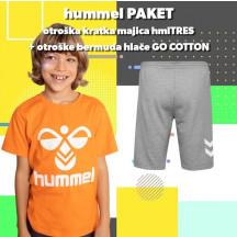 PAKET - otroški kratka majica hmlTRES + otroške bremuda hlače GO COTTON