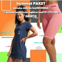 PAKET - ženska obleka hmlNORISSA + brezšivne pajkice hmlTIF CYCLING