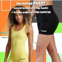 PAKET - ženski brezšivni top hmlCI + kratke pajkice CORE HIPSTER